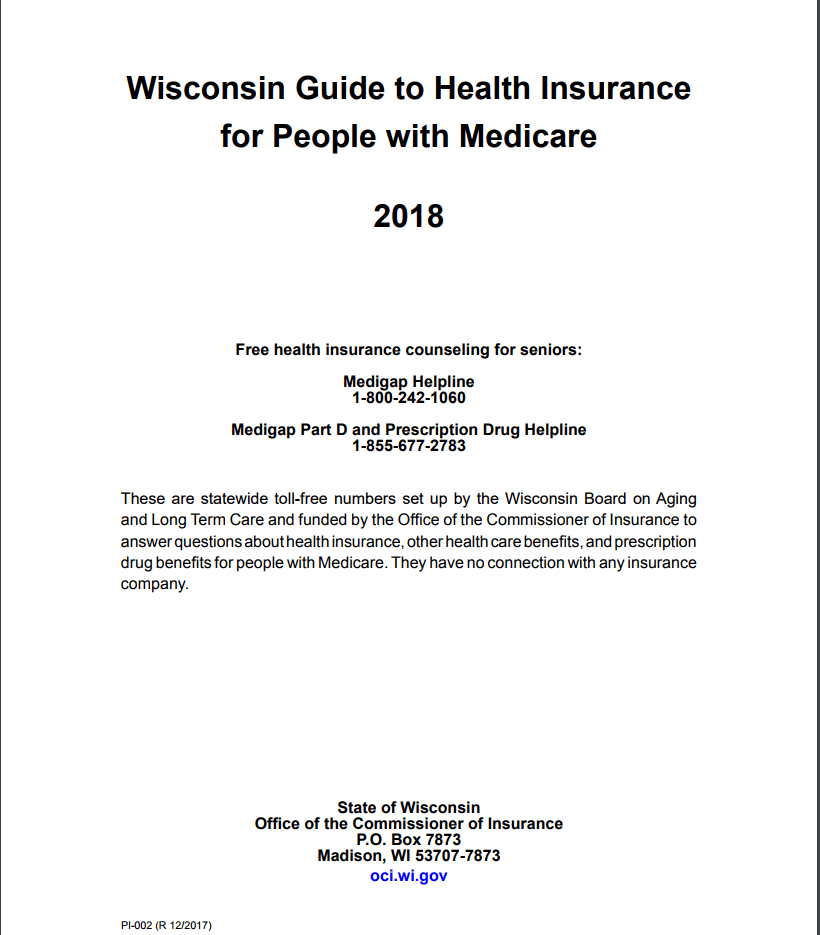 Wisconsin Guide to Health Insurance for People with Medicare